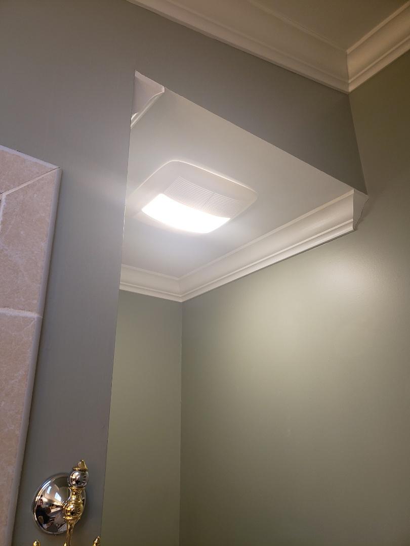 Raleigh, NC - Replace bathroom fan