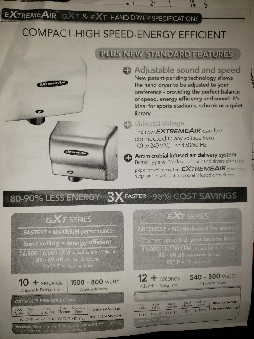 Cary, NC - Installing   Hand dryers