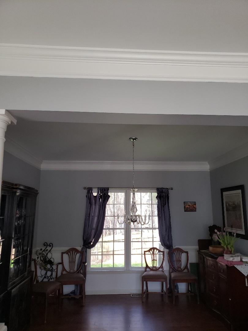 Raleigh, NC - Installing chandelier