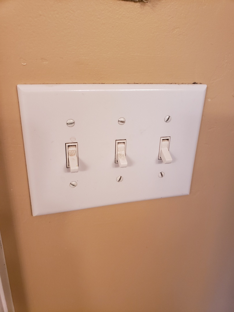 Wake Forest, NC - Troubleshoot faulty lighting circuit in bathroom, problem caused due to tight wires in attic