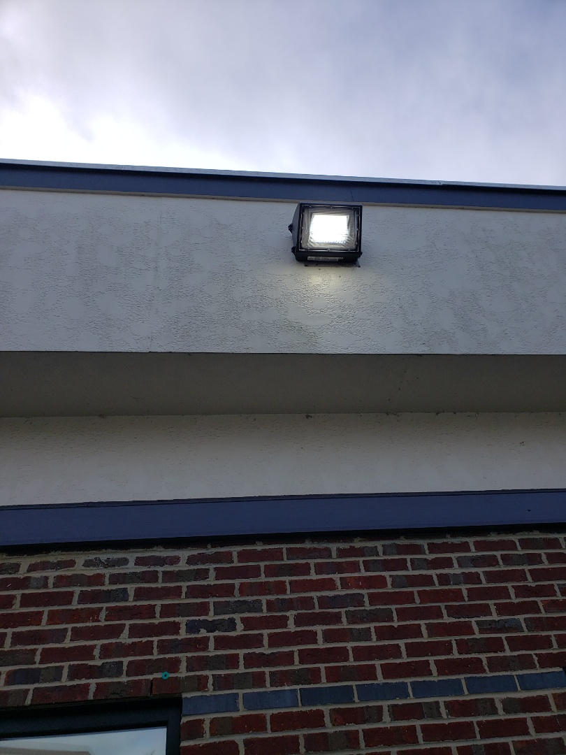 Raleigh, NC - Install new led wall pack lights in front entrance
