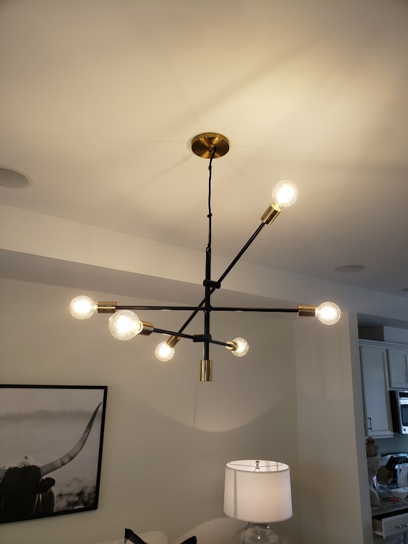 Raleigh, NC - Hang  light in living room