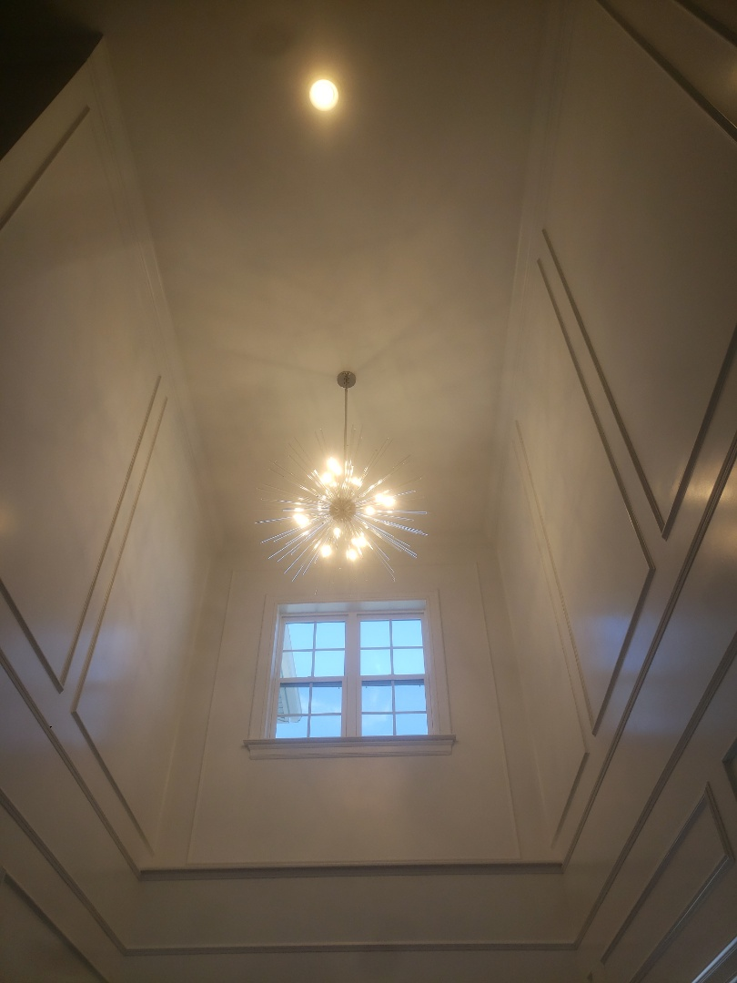 Cary, NC - Install two new chandeliers in foyer and dining room