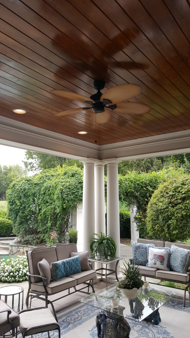 Raleigh, NC - Hanging ceiling fan for customer