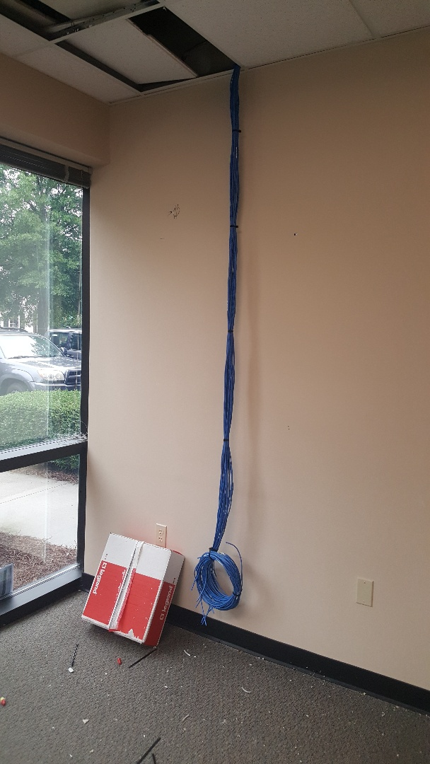 Raleigh, NC - Install cat 5 cable in New office Suite