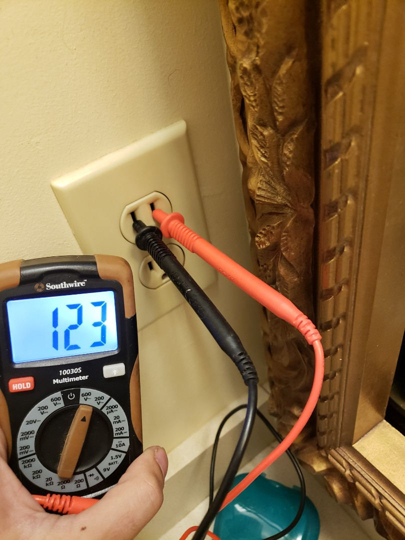 Raleigh, NC - Replaced faulty gfci outlet in bathroom with a new ivory 15 amp gfci outlet