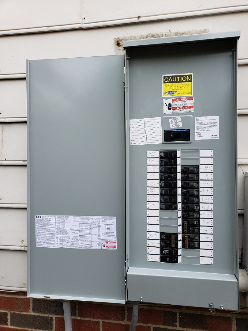 Raleigh, NC - Replace outdoor panel with a new outdoor Eaton BR panel