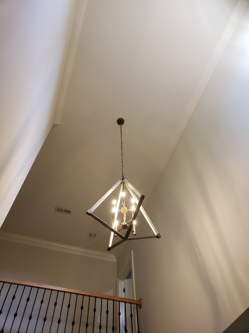Raleigh, NC - Hang Chandelier in foyer