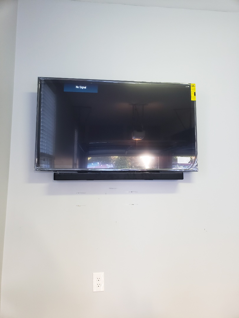 Raleigh, NC - Install TV and sound bar in garage
