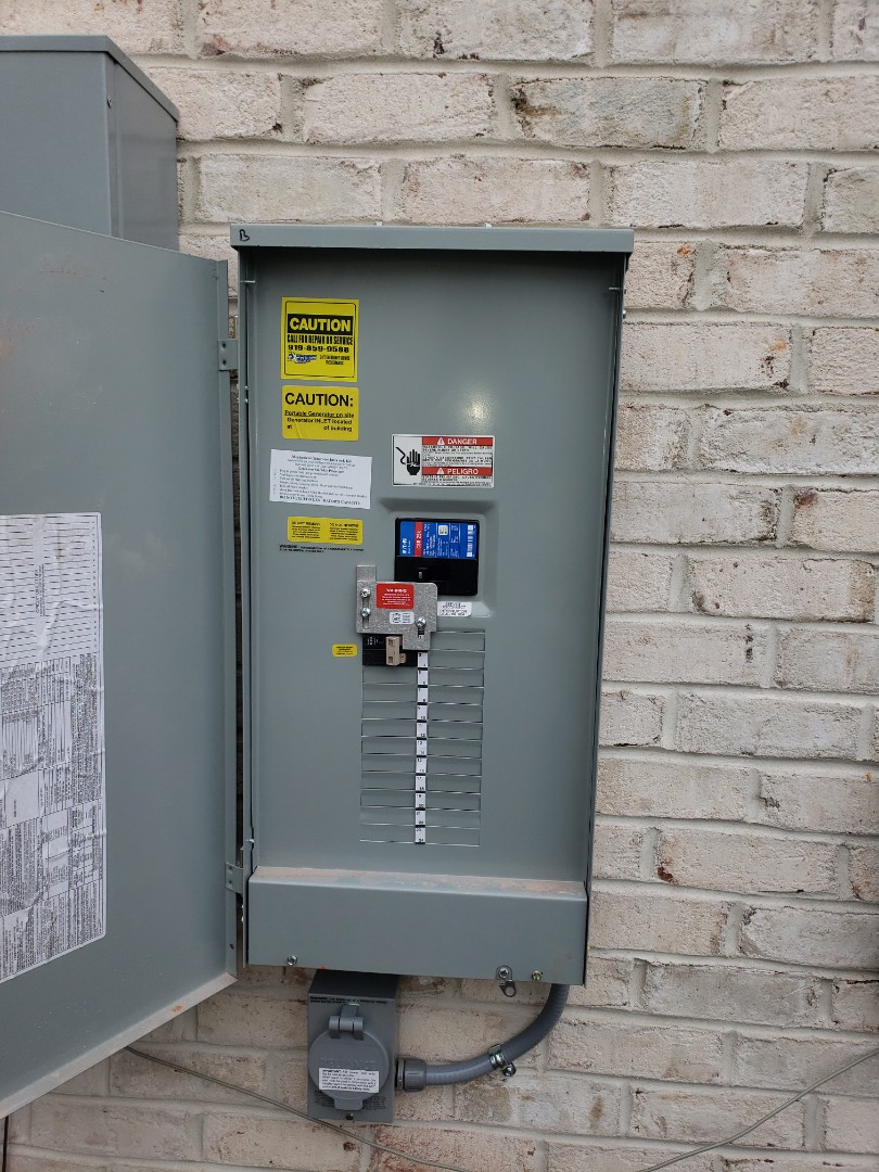 Raleigh, NC - Install generator outlet and interlock kit