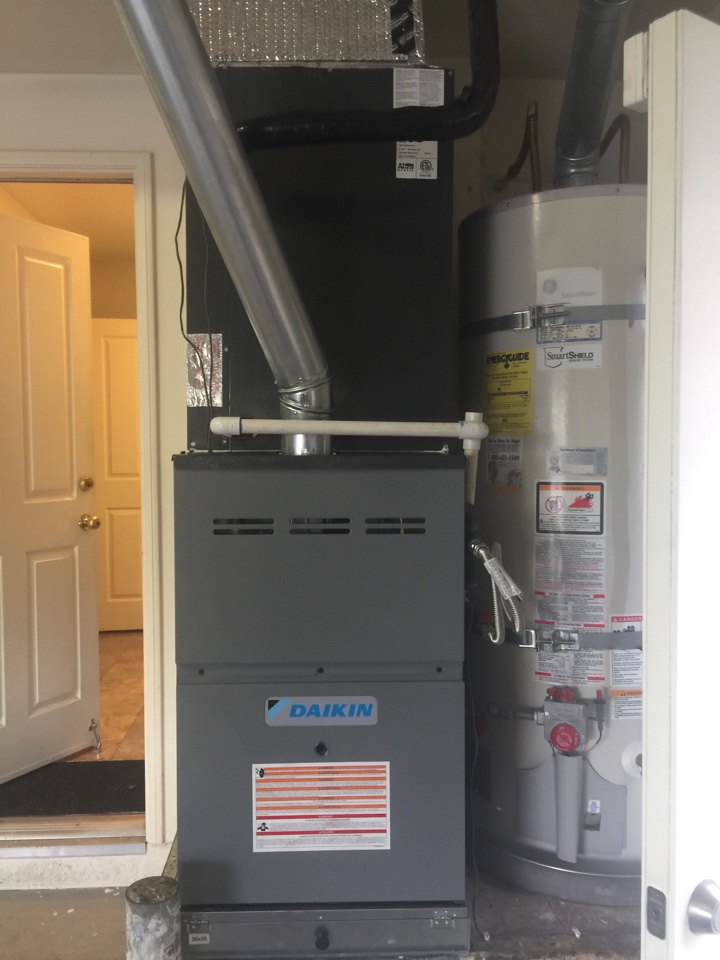 Fountain Valley, CA - Full system changeout. Brand new Daikin furnace.