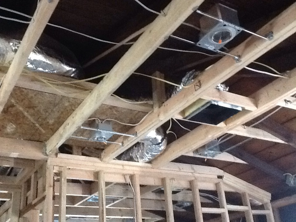 Seal Beach, CA - Heat plus add Ac with duct install on rough construction home