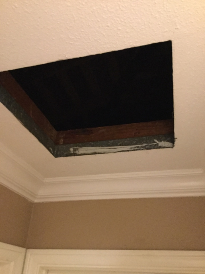 Santa Ana, CA - Inspecting ductwork & performing maintenance on system