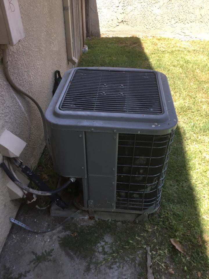 Fullerton, CA - System low on refrigerant