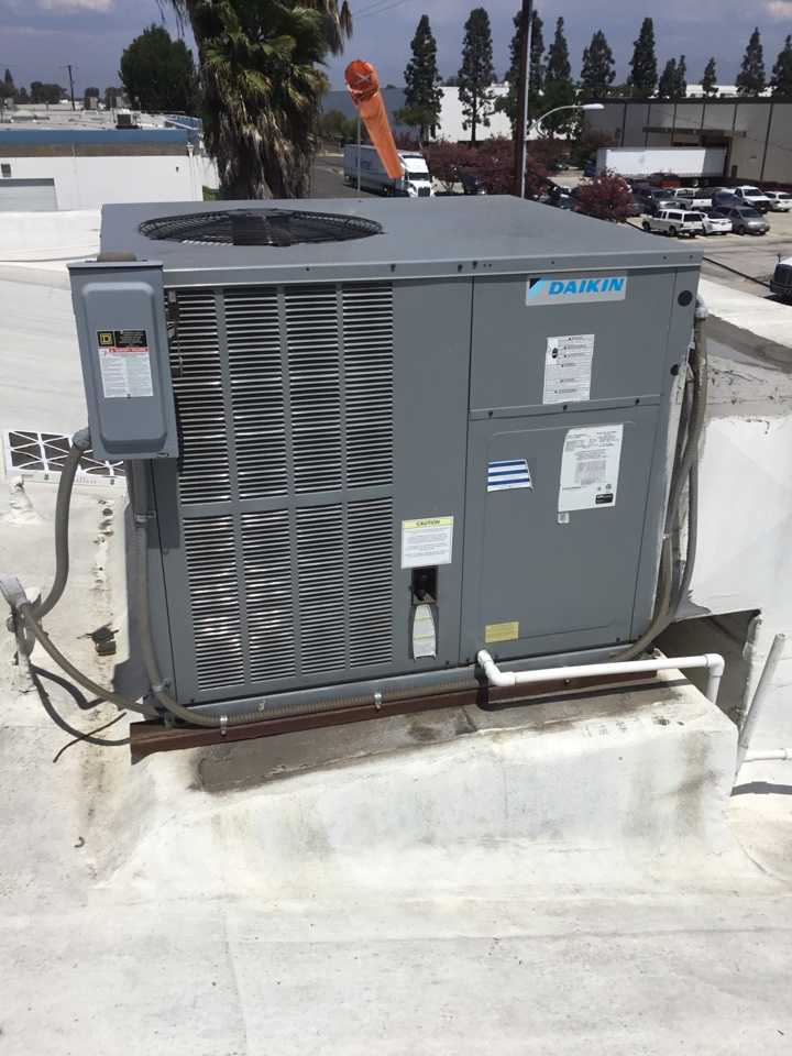 Garden Grove, CA - Preventative maintenance on 5 ton package unit