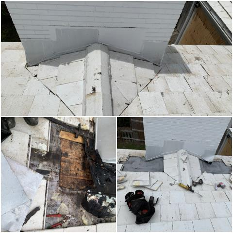 Delray Beach, FL - We Repaired a leaking chimney on a home in Delray Beach FL 33483. We removed the tiles around the chimney valleys and re installed under layment and re tiled the area