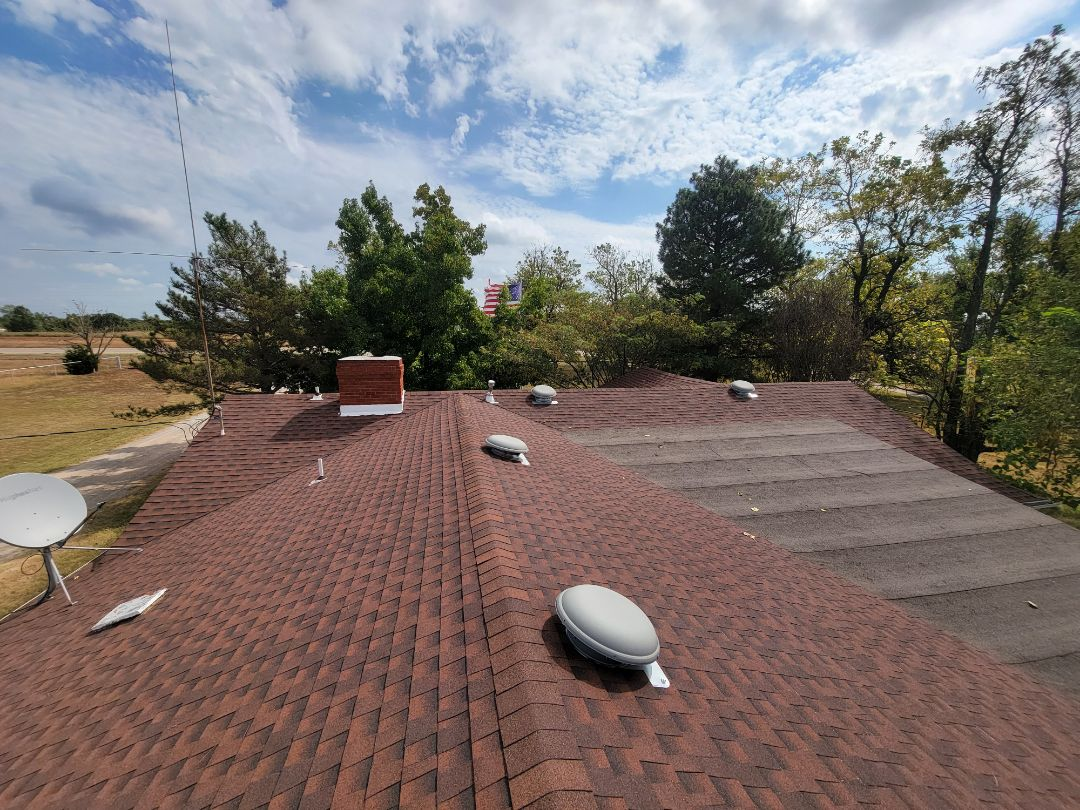 Meeker, OK - Roof inspection.