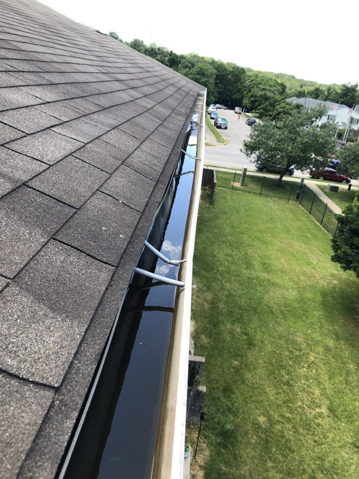 Glen Burnie, MD - Gutter repair on a Gaf 3 tabshingle roof