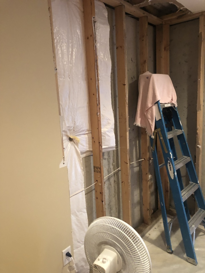 Severn, MD - Drywall repair from water pipe burst