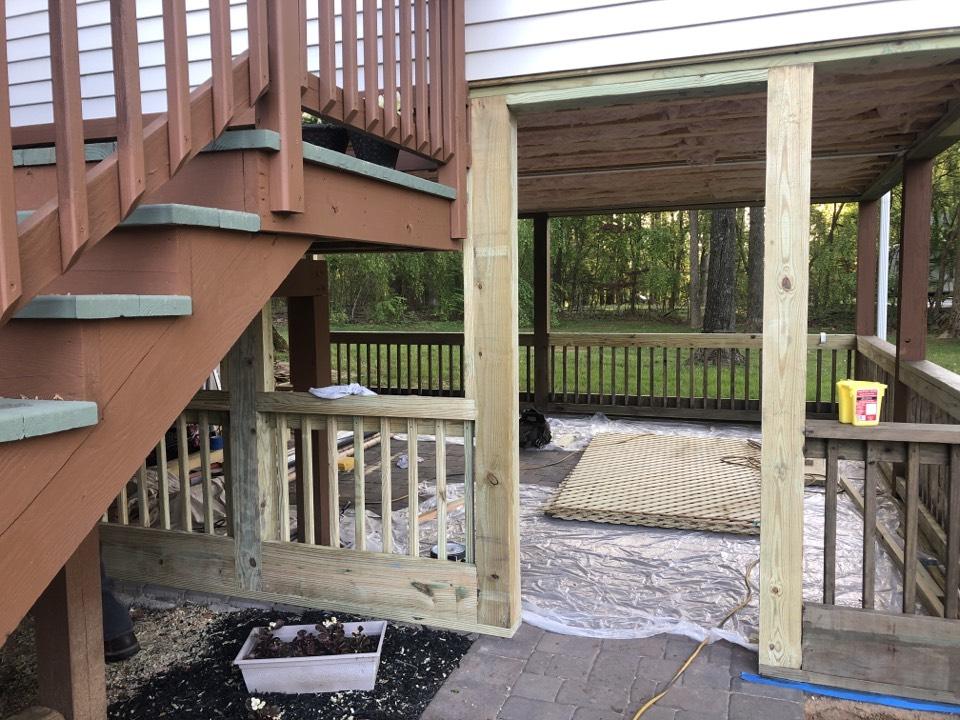 Clarksville, MD - Screened in porch in progress