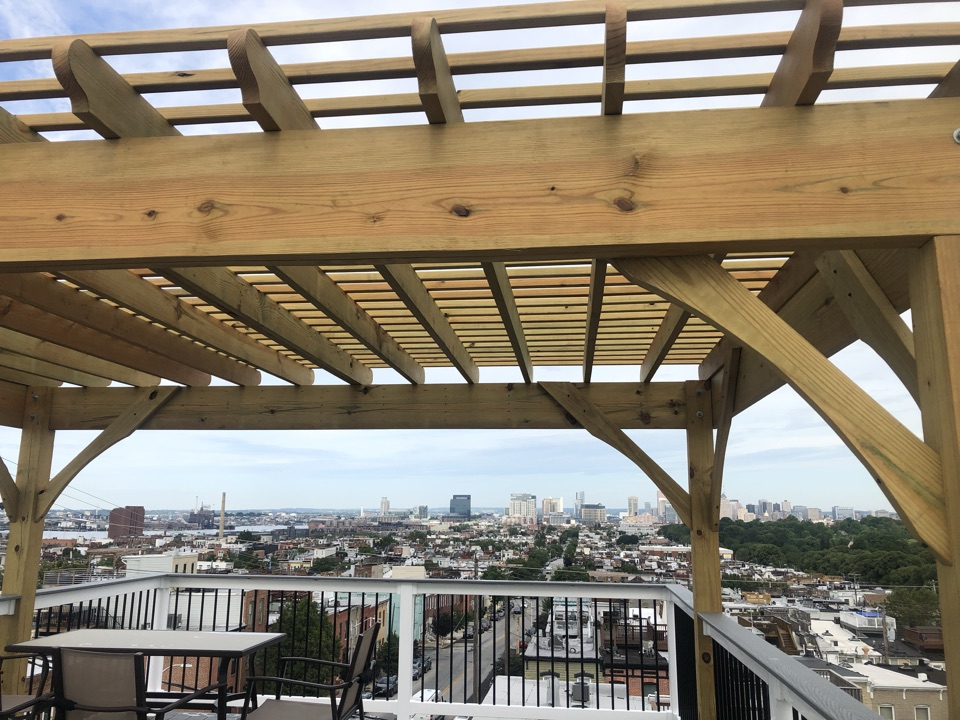 Baltimore, MD - Roof top deck replacement with a new pergola