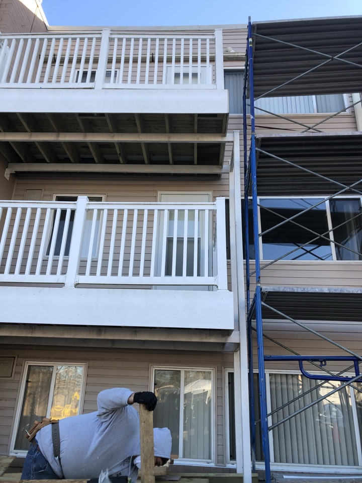 Forest Heights, MD - Repaired exterior wall rot then install siding