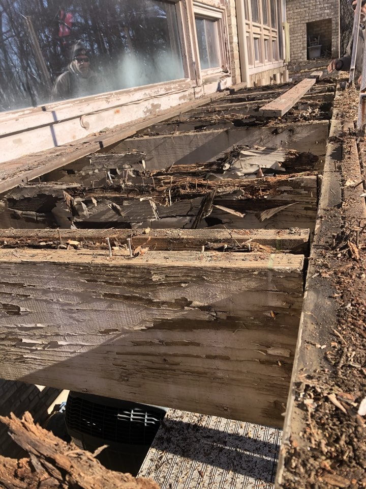 Pikesville, MD - Removing the deck on the back of a house due to overexposure and rotten wood