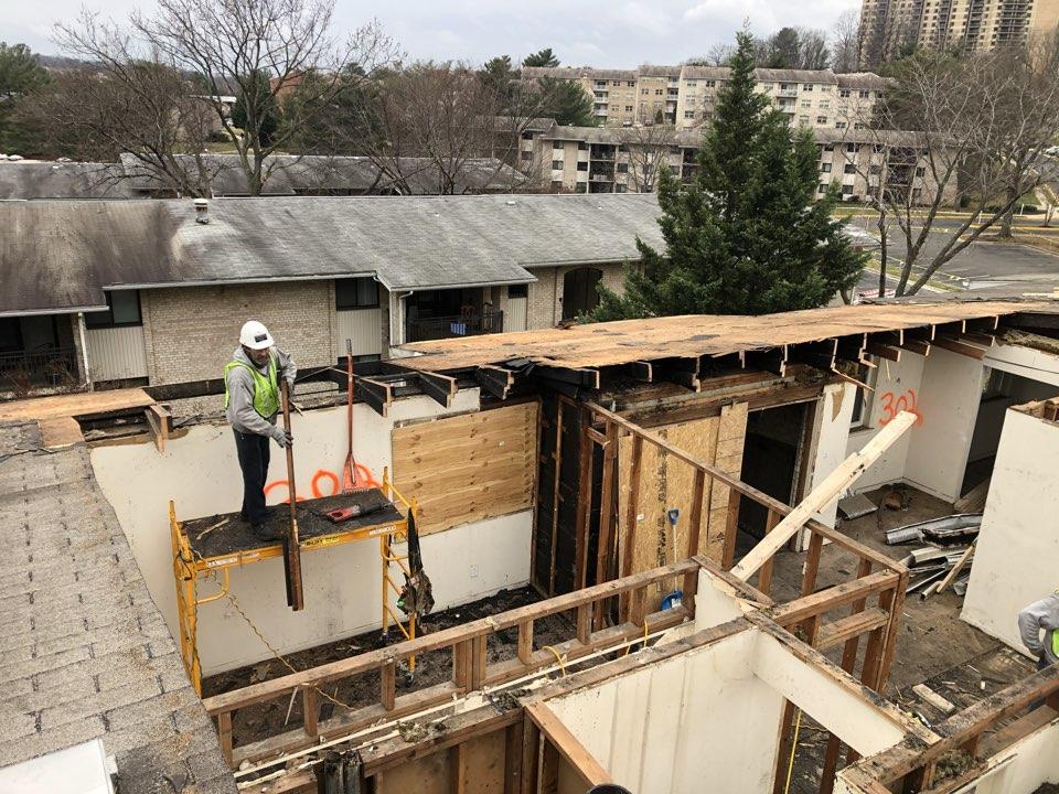 Alexandria, VA - Roof replacement due to fire down below