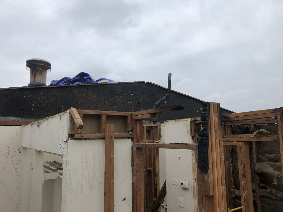 Alexandria, VA - Replacing the roof due to the fire