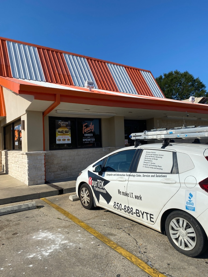 Pensacola, FL - Making sure this Whataburger on New Warrington Road is able to have a productive Labor Day!