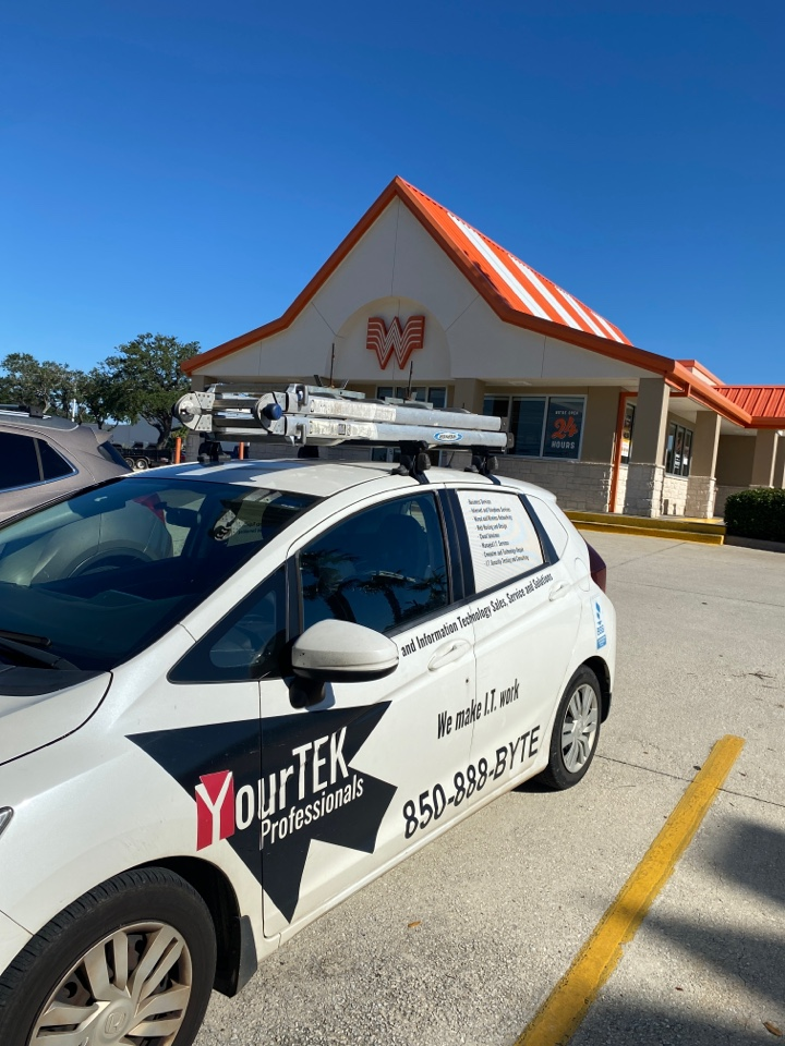 Gulf Breeze, FL - Making sure this Whataburger has no issues for the beautiful weekend ahead