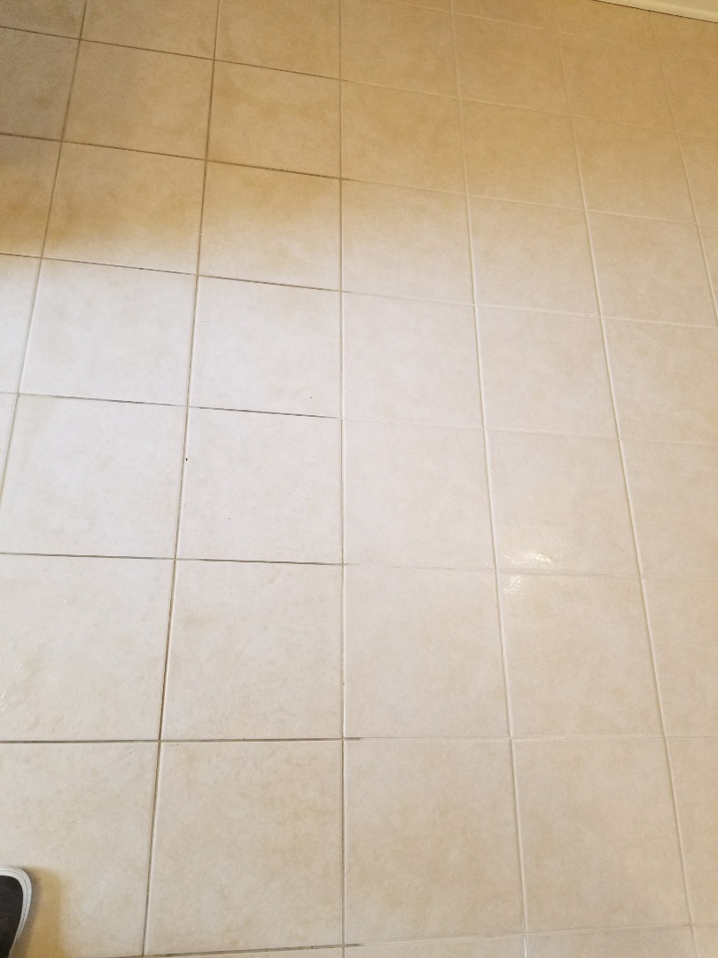 Williamsburg, VA - Tile and Grout Cleaning... Before and After