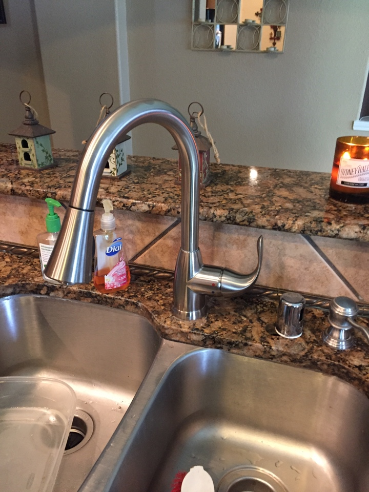 Sachse, TX - Just installed this nice kitchen faucet!#sachse plumbers