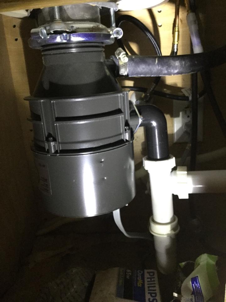 McKinney, TX - Leak underneath kitchen sink. need repair. Install new garbage disposal and basket strainer on kitchen sink. McKinney plumbers