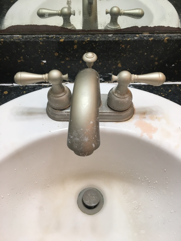 Forney, TX - Bathroom Delta sink faucet leaking at hot side needs repair. Toilet leaking needs repair. Install new delta cartridge and toilet flapper