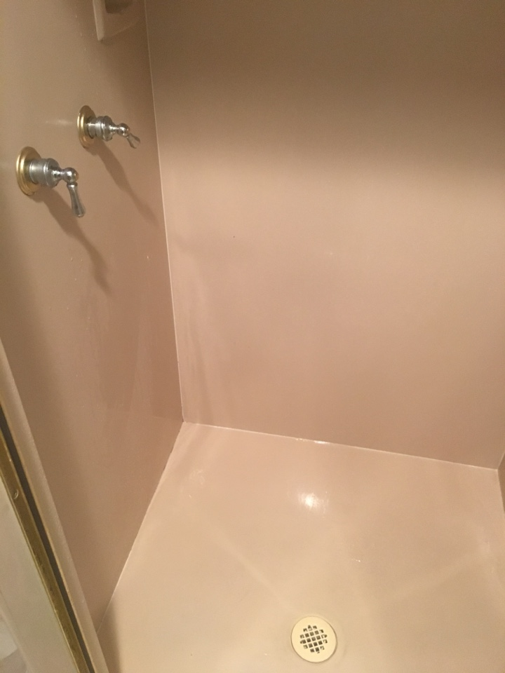 Dallas, TX - Shower not draining, clogged. Auger drain with cable. Now draining properly. Sunrise Plumbing in Dallas TX