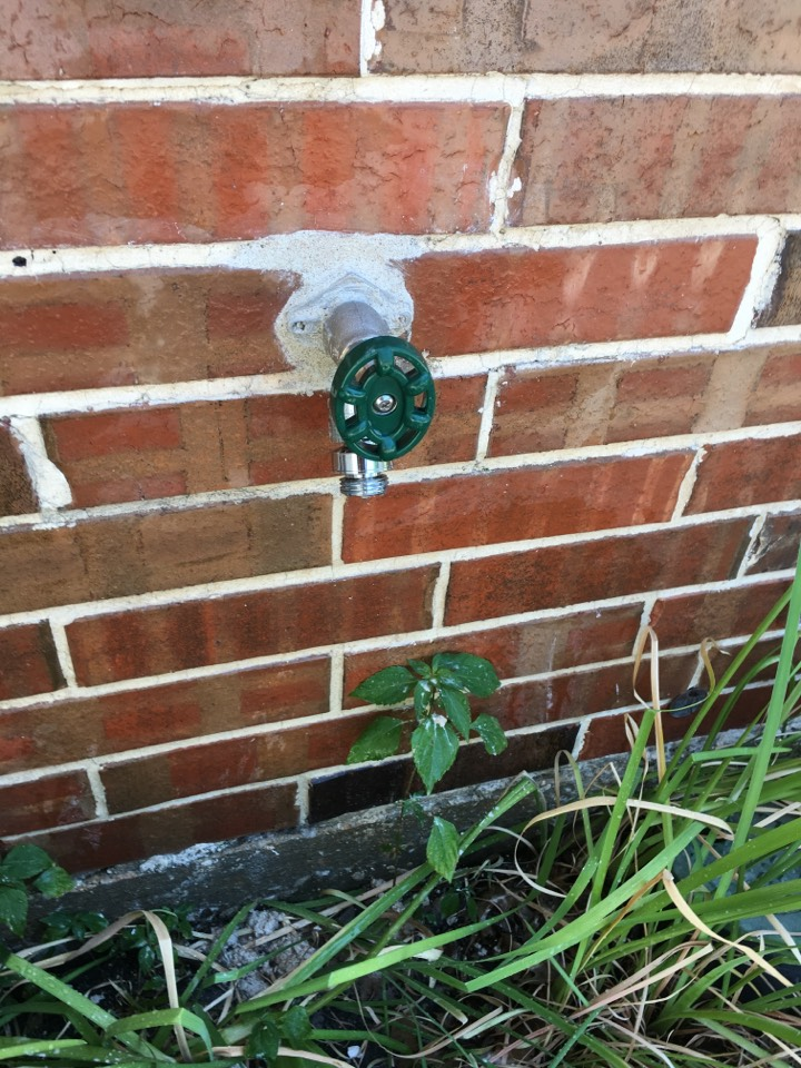 Rockwall, TX - Outside faucet busted leaking in wall. Outside faucet froze, needs to be replaced. Install new outside faucet.