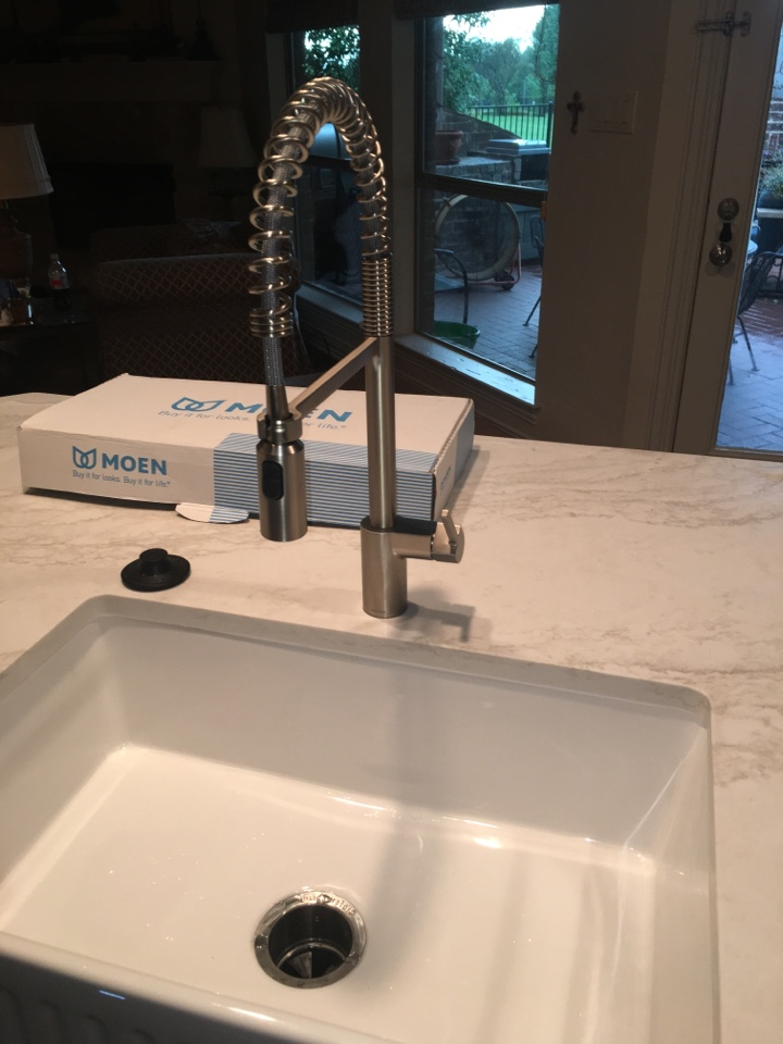 Rockwall, TX - Need plumbing installation. Install client provided kitchen faucet and disposal at kitchen sink.
