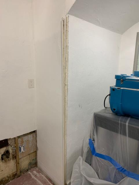 Boca Raton, FL - During a reroof for this home in the Broken Sound community water had damage the interior of garage and a bedroom. Mold damage occurred after a few days and remediation was needed.
