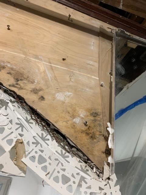 West Palm Beach, FL - This home had a roof damage during the last heavy rain causing water intrusion and mold growth. Our team responded quickly tarpping the roof to stop further damage and started the mold remediation.