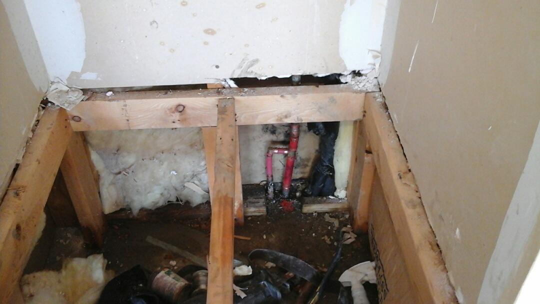 Waxahachie, TX - Water leak in wall