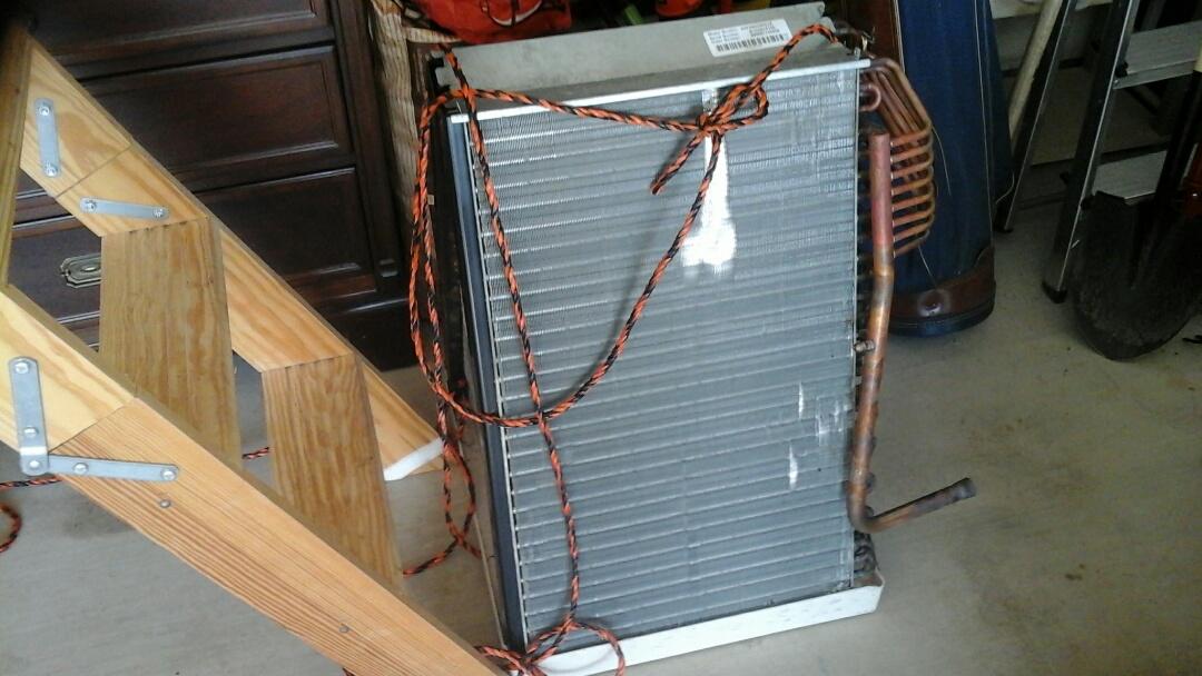 Midlothian, TX - A/C no cool. Replace evaporator coil.