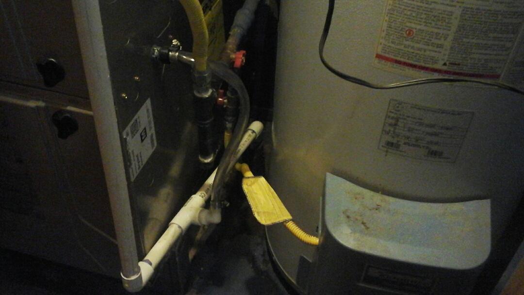 Garland, TX - Clogged condensate drain. Clear drain line