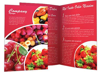 Healthy Food Brochure Template Amp Design ID 0000000588