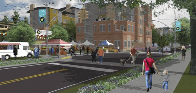 Conceptual design for 190th Street in Shoreline