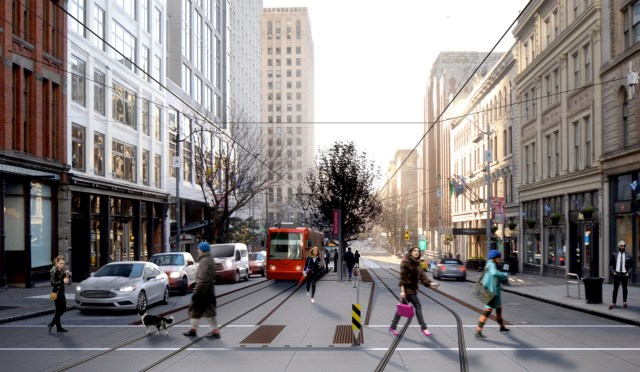 Rendering of the Center City Connector on First Avenue