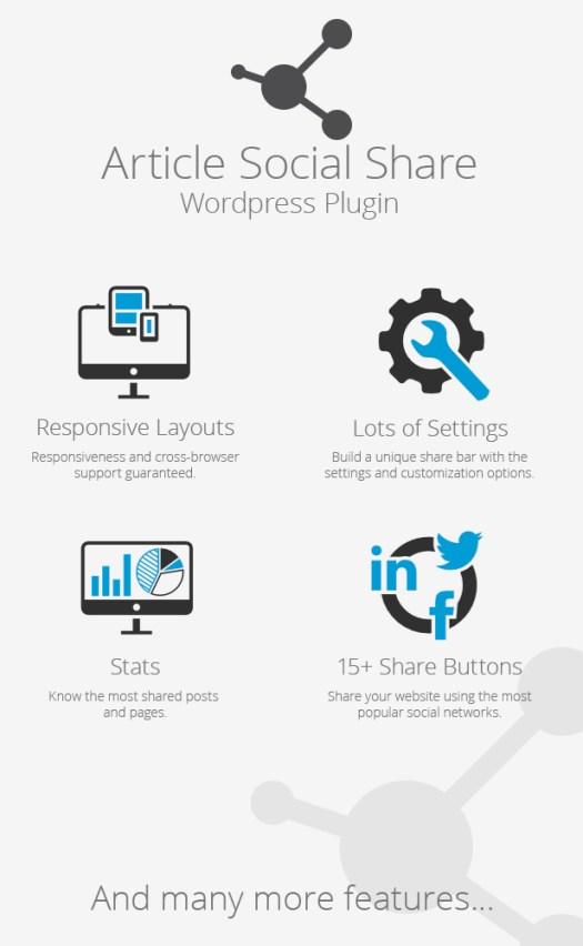 WordPress Article Social Share - 1