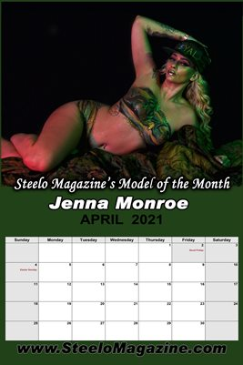 Steelo Magazine Model of the month - Jenna Monroe - April 2021 Poster