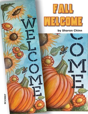 Fall Welcome Sign Painting Pattern Tutorial by Sharon Chinn - SC19007
