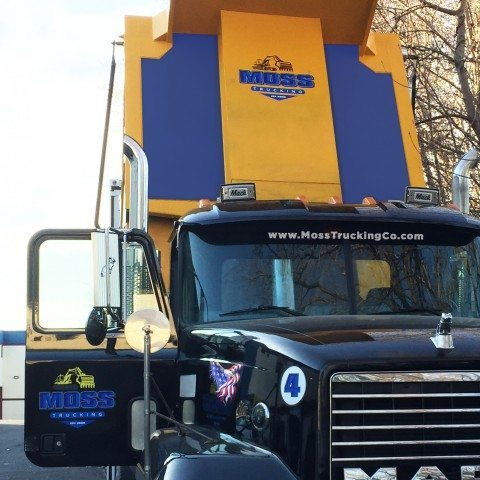 Moss Trucking Dump Truck Lettering